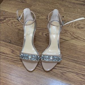 Jessica Simpson heels with studs on strap